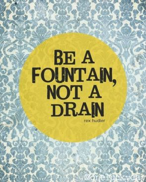 be a fountain